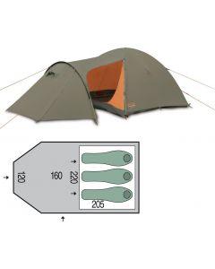 Палатка трехместная Pinguin - Horizon 3 new Green, (PNG 136)