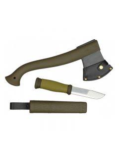 Набор Morakniv Outdoor Kit MG чем Outdoor 2000+ Топор Camping axe Нержавеющая сталь Зеленый цвет