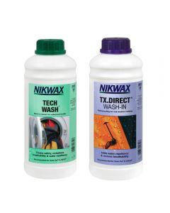 Набор Nikwax Twin Pack - Tech Wash 1000ml + TX Direct 1000ml