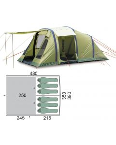Палатка шестиместная Pinguin - Interval 6 Airtube Green, (PNG 143.6A.Green)