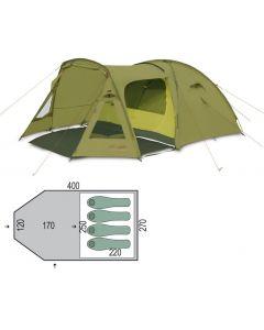 Палатка четырехместная Pinguin - Campus 4 Dural Green, PNG 145.4