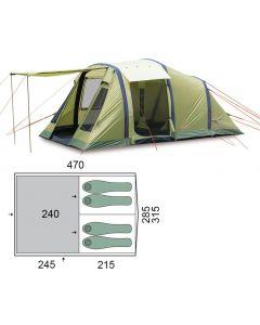 Палатка четырехместная Pinguin - Interval 4 Airtube Green, (PNG 143.4A.Green)