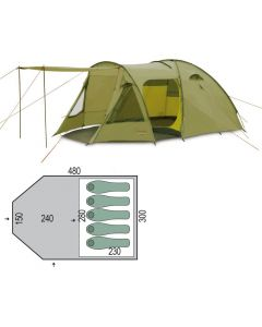 Палатка пятиместная Pinguin - Campus 5 Green, (PNG 125.5)