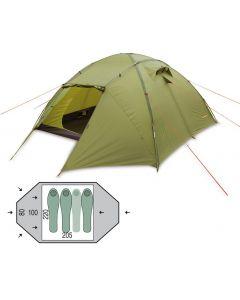 Палатка трехместная Pinguin - Tornado 3 Green, (PNG 123)