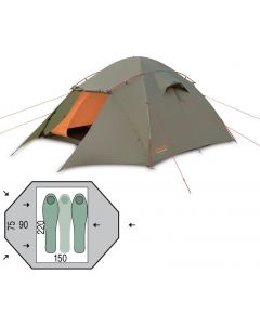 Палатка двухместная Pinguin - Taifun 2 Green, (PNG 134.2)
